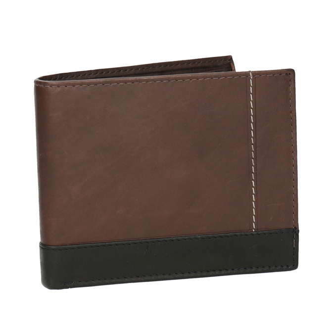 Men's leather wallet bata, brown , 944-8149 - 13