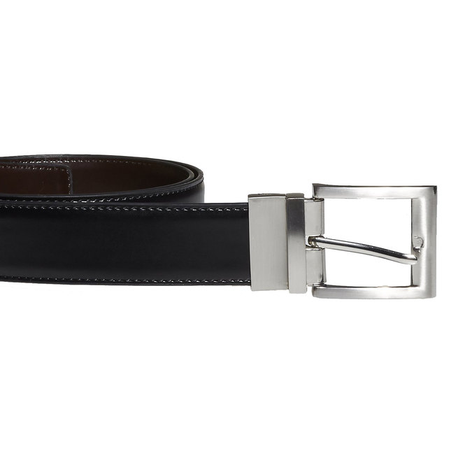 Men's Leather Belt, black , 954-6122 - 26
