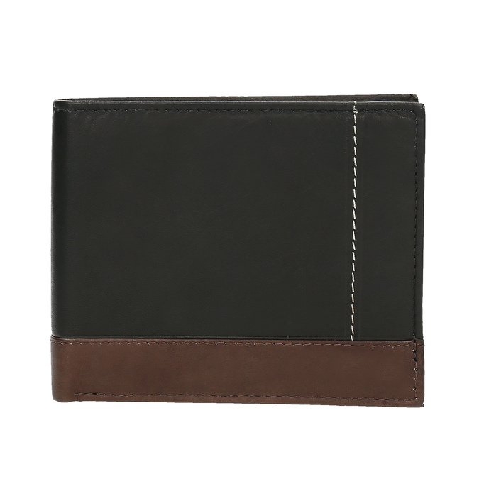 Men's leather wallet bata, black , 944-6149 - 26