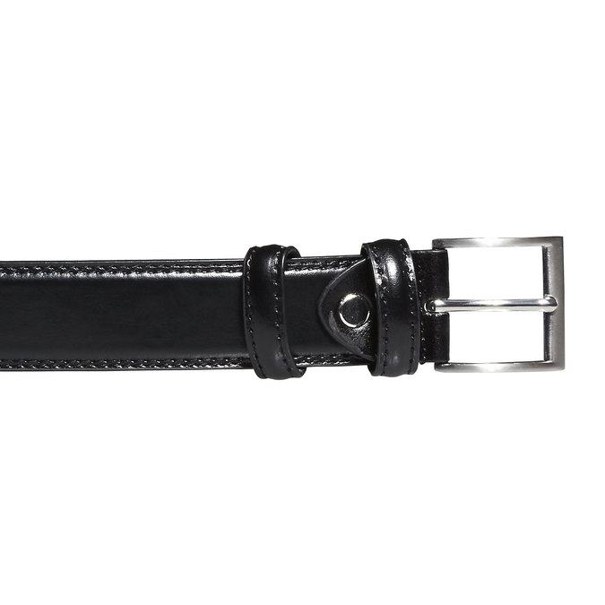 Men's Leather Belt bata, black , 954-6121 - 26
