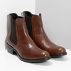 Leather Chelsea footwear bata, brown , 594-4448 - 26