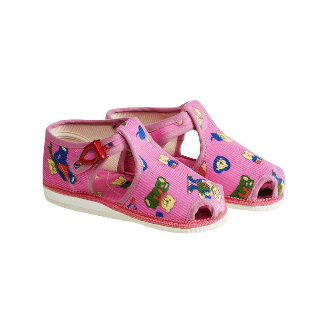 Children's home slippers bata, pink , 179-5210 - 26