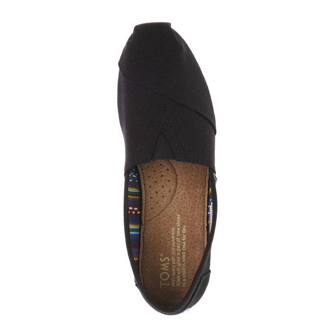 Ladies' slip-ons toms, black , 519-6004 - 19
