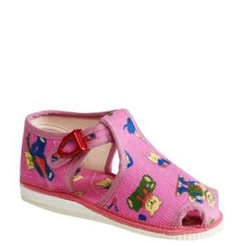 Children's home slippers bata, pink , 179-5210 - 13