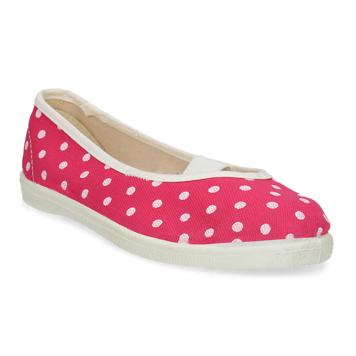 Kids' gym shoes with dots, pink , 279-5102 - 13