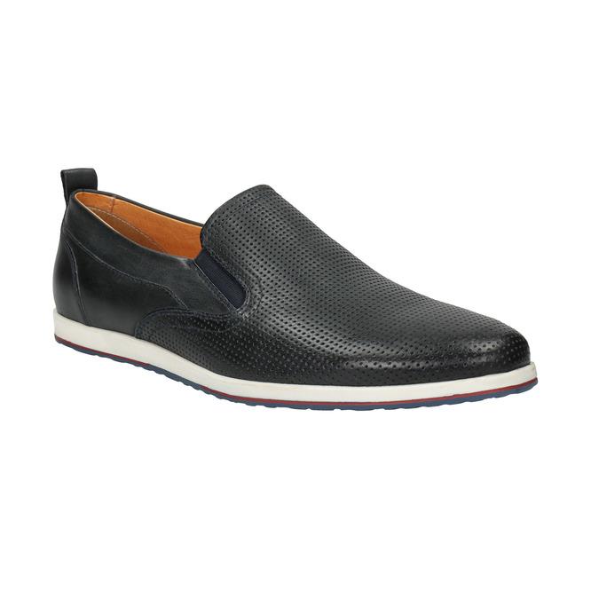 Men´s leather Slip-ons bata, black , 814-9148 - 13