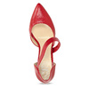 Leather pumps with T-strap bata, red , 724-5904 - 17