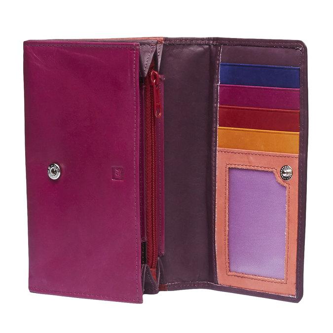 Ladies' leather purse bata, red , 944-5156 - 15