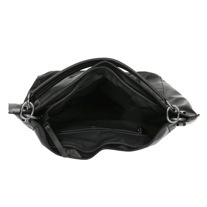 Black Hobo-style handbag bata, black , 961-6808 - 15