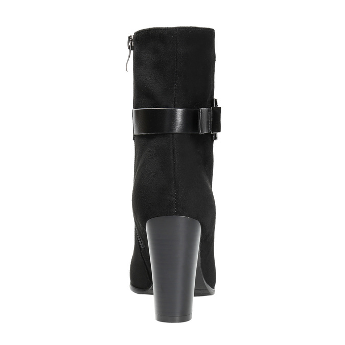 Ladies' ankle boots with a buckle bata, black , 699-6630 - 17
