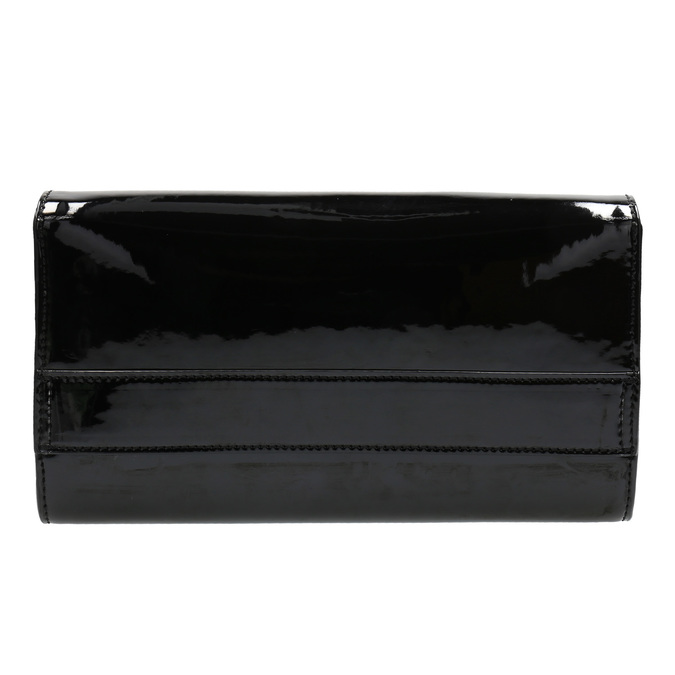 Black women's clutch bag in a lacquered finish bata, black , 961-6624 - 26