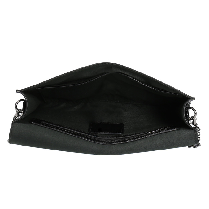 Black women's clutch bag in a lacquered finish bata, black , 961-6624 - 15