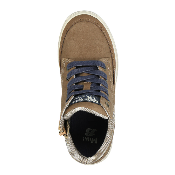 Boys´ ankle-cut sneakers mini-b, brown , 391-4600 - 19