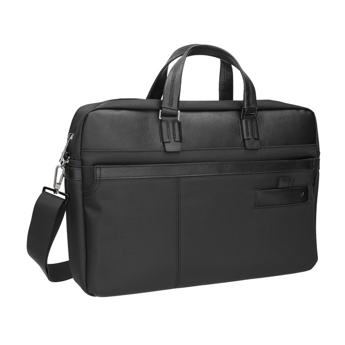 Black laptop bag roncato, black , 969-6640 - 13