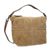 Leather handbag with quilting bata, brown , 963-3130 - 13