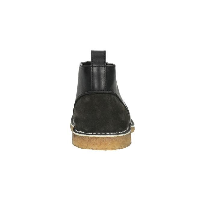Leather Chukka boots bata, black , 824-6665 - 17