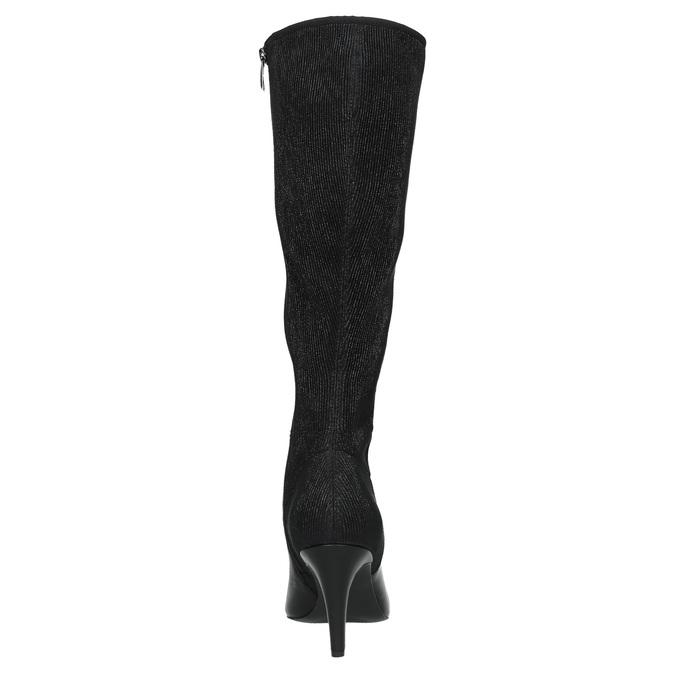 Leather Cossacks on a stiletto heel insolia, black , 794-6628 - 17