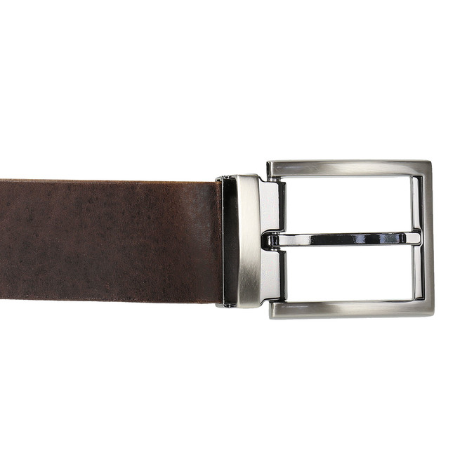 Brown leather belt bata, brown , 954-4129 - 26