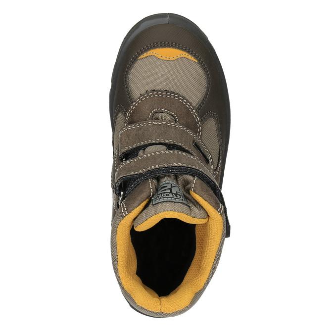 Children's winter boots with Velcro fasteners mini-b, brown , 499-3103 - 19