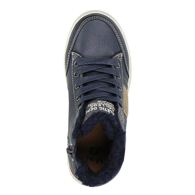 Ankle-high sneakers with insulation mini-b, blue , 491-9600 - 19