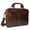 Men's leather satchel bata, brown , 964-4204 - 13