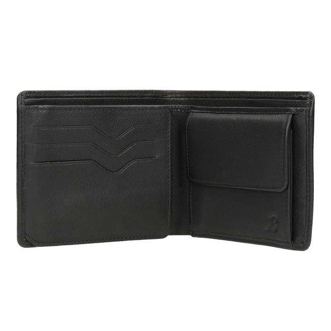 Stylish men's wallet bata, black , 944-6177 - 15