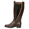 Ladies' leather Cossacks bata, brown , 596-3608 - 19