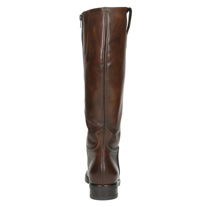 Ladies' leather Cossacks bata, brown , 596-3608 - 17