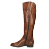 Brown leather knee-high boots bata, brown , 594-4605 - 19