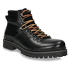 Leather Ankle Boots with Colorful Shoelaces, black , 894-6180 - 13