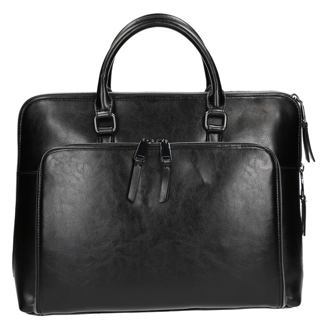 Elegant handbag for carrying in the hand bata, black , 961-6882 - 26