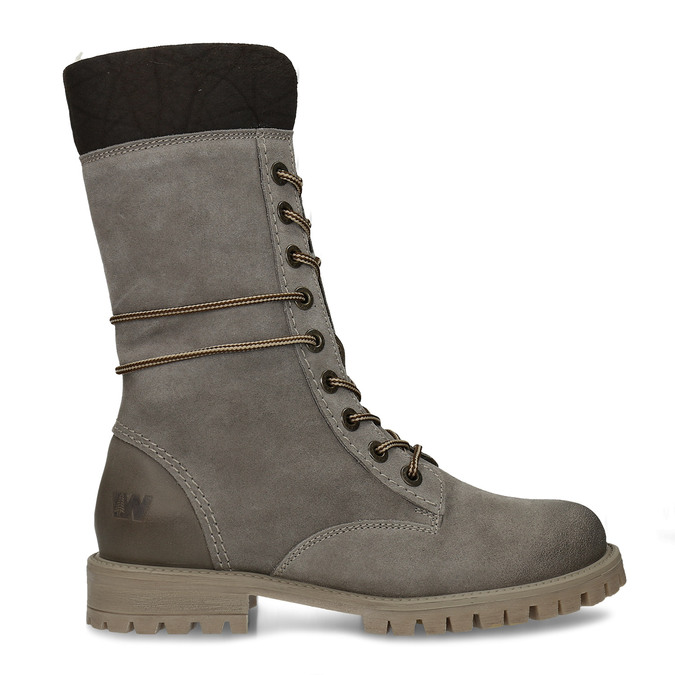 Ladies' lace-up winter boots weinbrenner, gray , 593-2476 - 19