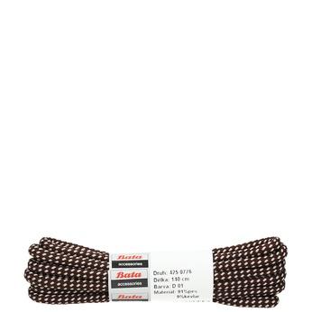 Round laces bata, brown , 901-4148 - 13