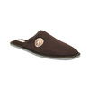 Men's slippers with full toe bata, brown , 879-4609 - 13