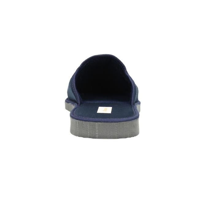 Men's slippers with full toe bata, blue , 879-9605 - 17