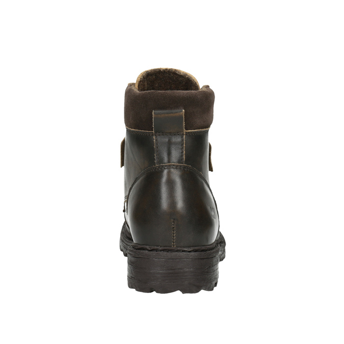 Men´s leather ankle-cut footwear weinbrenner, brown , 896-4110 - 17