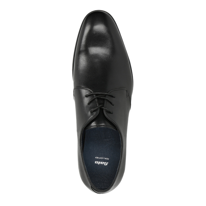 Black leather shoes bata, black , 824-6754 - 19