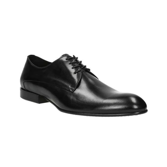 Black leather shoes conhpol, black , 824-6861 - 13