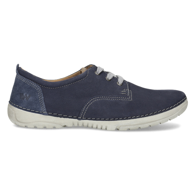 Casual leather shoes, blue , 846-9631 - 19