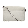 Crossbody handbag with perforated flap bata, gray , 961-2709 - 19