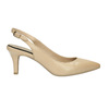 Ladies´ leather Sling-back pumps pillow-padding, beige , 624-8638 - 15