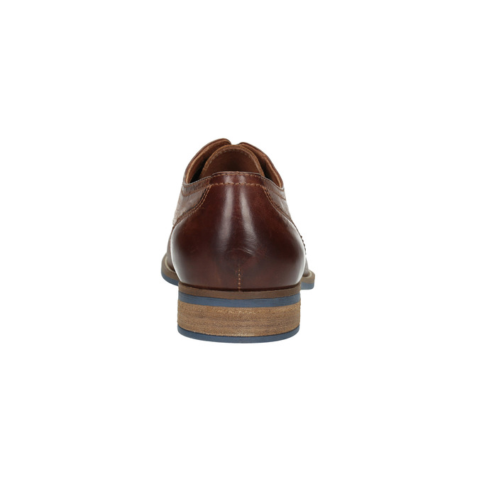 Men's brown leather shoes bata, brown , 826-4791 - 17