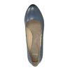 Pumps on a stable heel pillow-padding, blue , 626-9637 - 19