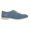 Blue leather shoes bata, blue , 523-9600 - 15