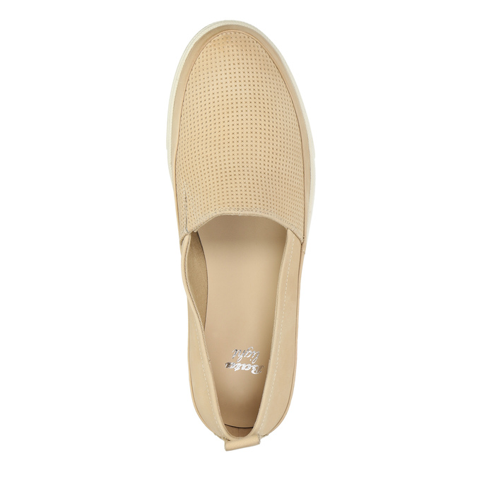 Light slip-ons for ladies bata, beige , 516-8601 - 19