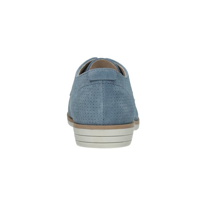 Blue leather shoes bata, blue , 523-9600 - 17