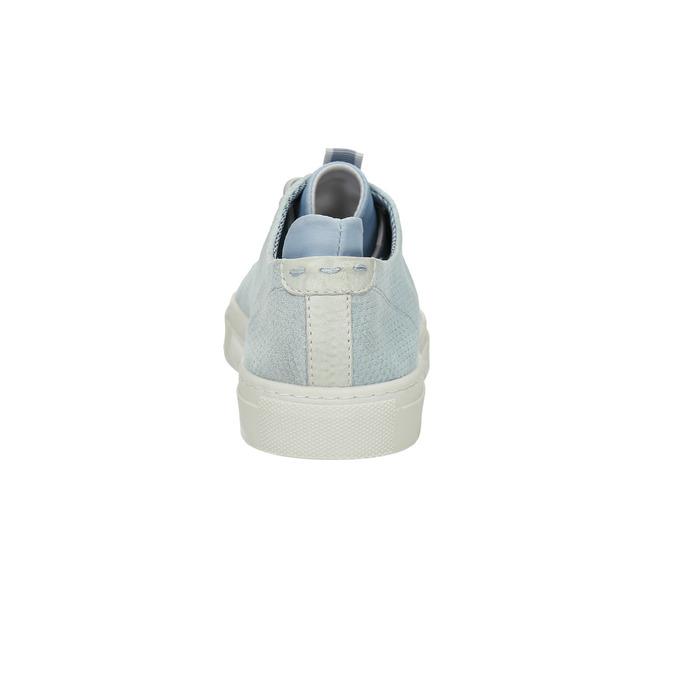 Ladies' leather sneakers bata, blue , 523-9601 - 17
