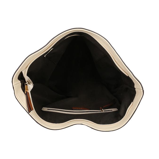 Hobo-style handbag, beige , 961-8705 - 15
