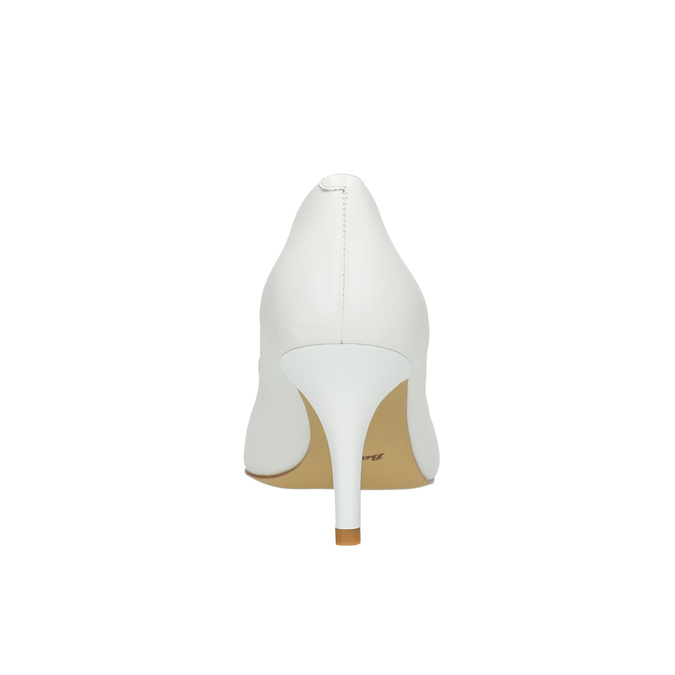 Ladies´ leather pumps bata, white , 624-1632 - 17