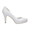 White leather pumps with cut-outs insolia, white , 728-1637 - 15